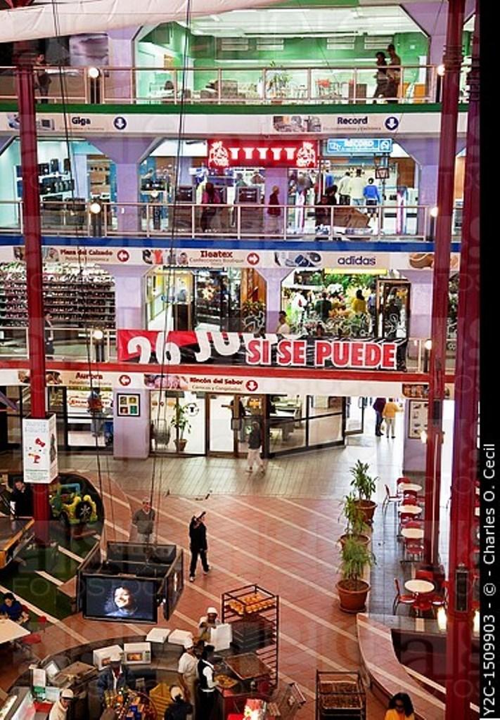 Cuba, Havana  Plaza Carlos III Shopping Mall