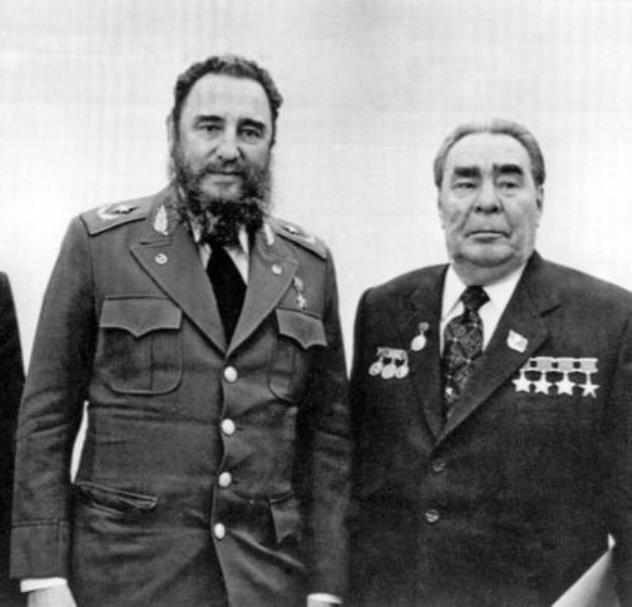Konstantin Chernenko fidel castro cuba ussr Soviet Leonid Brezhnev